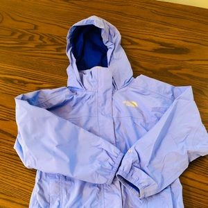 The North Face girl rain jacket size 5